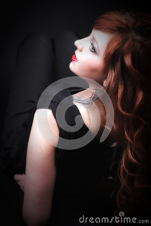 Lovely redhead - Young beautiful red haired woman