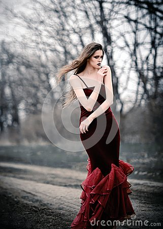 Free Lovely Sad Girl In The Field Stock Photo - 100507530