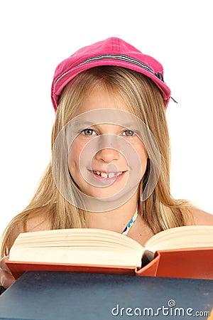 Lovely School Girl with Books