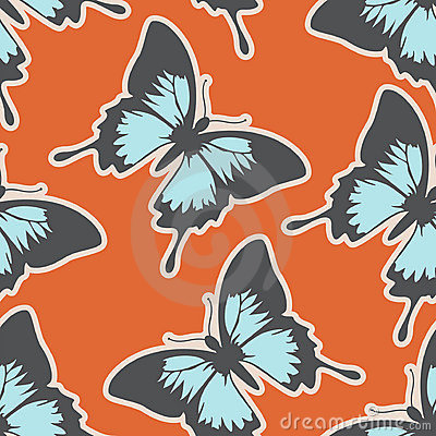 Lovely seamless pattern with butterflies