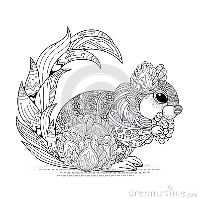 Lovely Squirrel Design Stock Vector Image 61347328