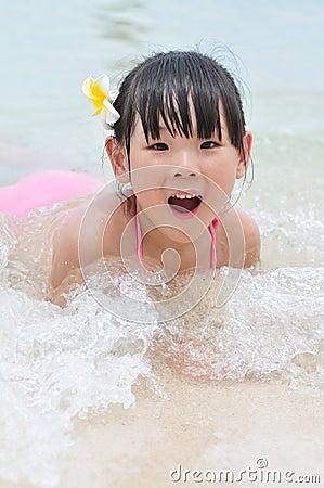Lovely swimming girl