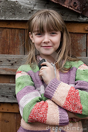 lovely village young girl