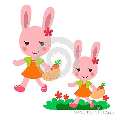 Lovely Walking rabbit
