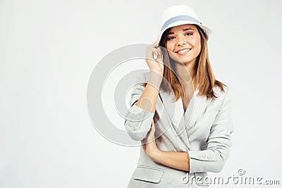 Lovely woman in elegant clothing