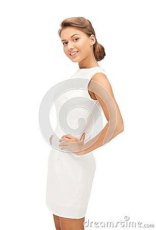 Lovely woman in elegant dress
