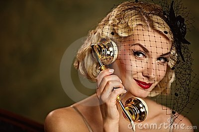Lovely woman talking on the phone.