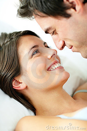Lovely young couple in a romantic mood