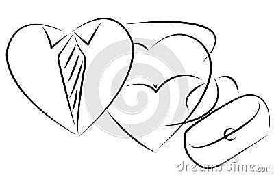 Lover couple icon