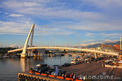 Lover s Bridge, in Taipei, Taiwan Editorial Image
