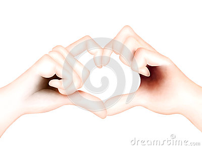 Lover Showing Heart Symbol with Hands