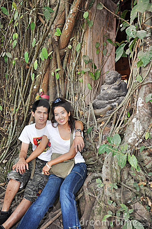 Lover Thailand Root Tree Background