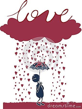 Lover under the rain