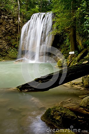 Lover in waterfall