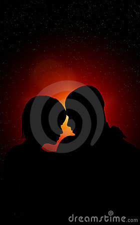 Free Lovers At Night Stock Photography - 22964672