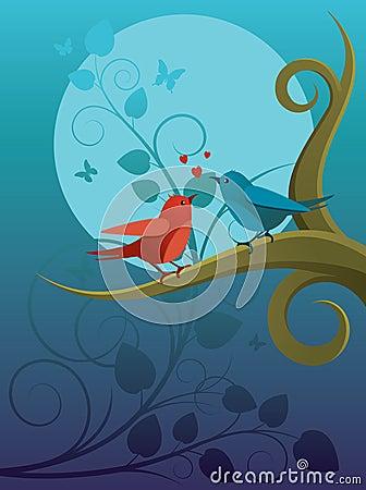 Lovers birdie