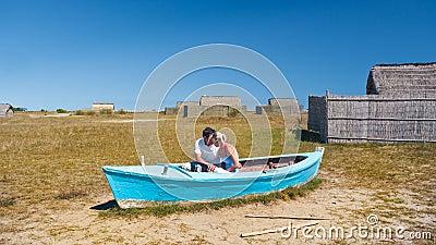 Lovers in a boat
