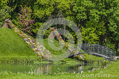 Lovers Bridge In Botanical Garden Craiova Romania Stock Photo Image 70965691