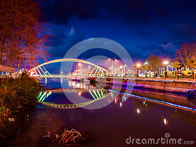 Lovers Bridge In Soft Evening