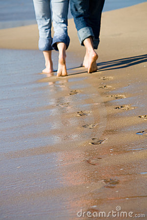 Lovers footprints