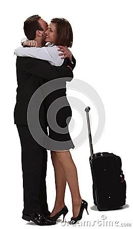 Lovers hugging