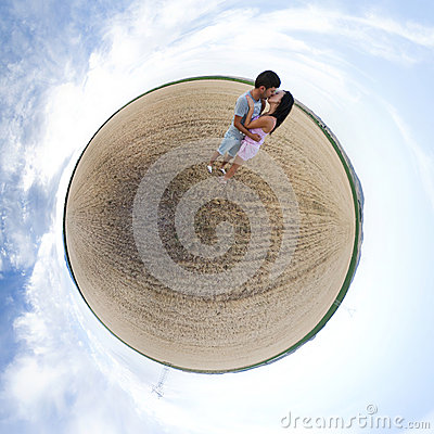 Lovers on a little planet