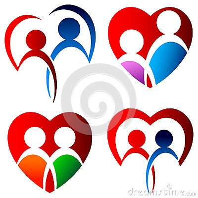 Lovers logo set