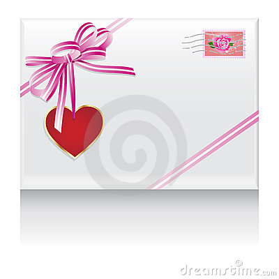 Lovers mail heart in love