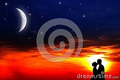 Lovers sunset