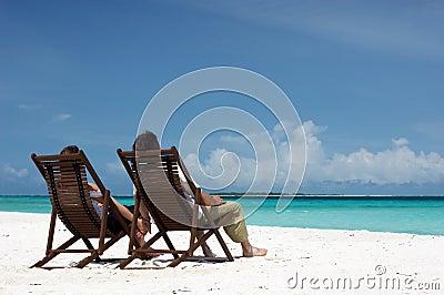 Loving couple on the beach