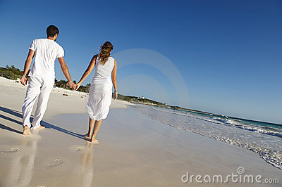 Loving couple at beach