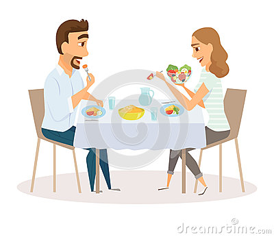 Online Dating restaurang