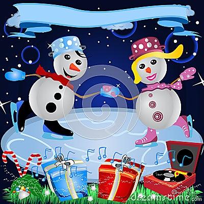Loving Couple On Ice