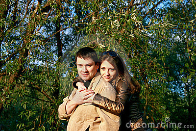 Loving Couple In The Park Royalty Free Stock Photo - Image: 15710035