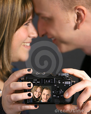 Loving couple taking picture