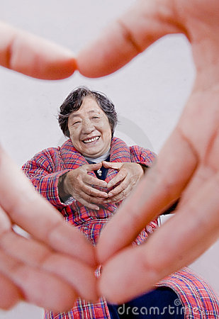 Free Loving Heart And The Elderly Royalty Free Stock Image - 11402036