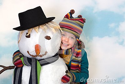 Loving the snowman