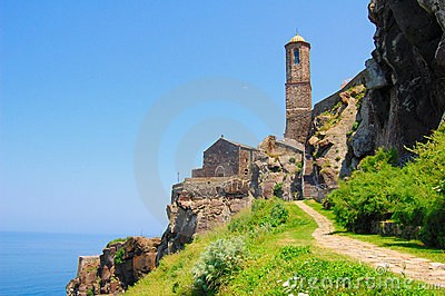 Low angle of Cathedral of Castelsardo