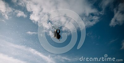 Low Angle Photo Of Wakeboarder In The Sky Free Public Domain Cc0 Image