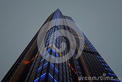 Low Angle Photography Of Lighted High Rise Building Free Public Domain Cc0 Image