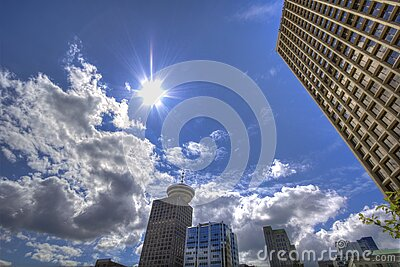 Low Angle Photography Of Skyscrapers Under White And Gray Cloudy Blue Sky At Daytime Free Public Domain Cc0 Image