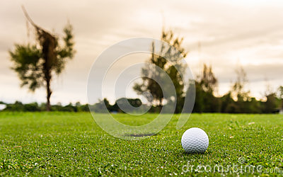 Low angle view of golf ball