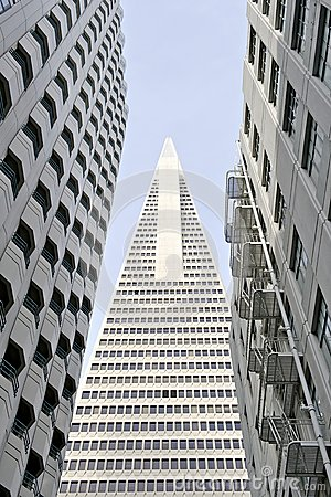 Free Low Angle View Of The Transamerica Pyramid San Francisco Designed By William Pereira Stock Images - 30850914
