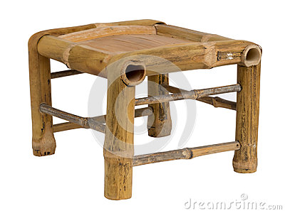 Low bamboo stool