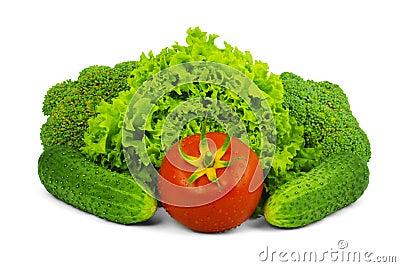 Low-calorie raw vegetables