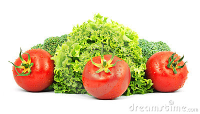 Low-calorie raw vegetables