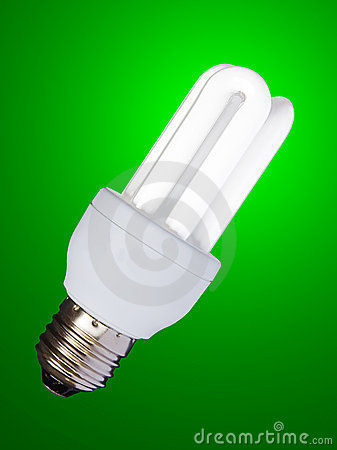 Low consumption bulb -  isolated with clipping pat