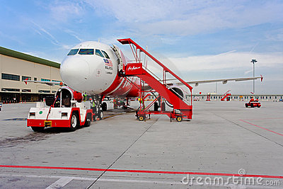 Low Cost Air Company Air Asia Editorial Stock Image