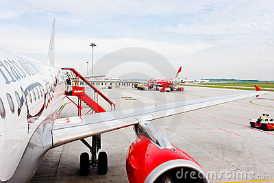 Low Cost Air Company Air Asia Editorial Image