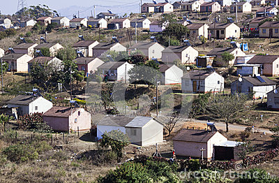 Low Cost Township Houses in Durban South Africa Editorial Stock Image